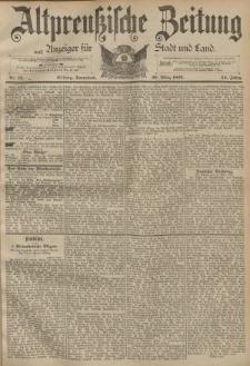 Altpreussische Zeitung, Nr. 73 Sonnabend 26 März 1892, 44. Jahrgang
