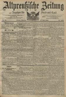 Altpreussische Zeitung, Nr. 98 Mittwoch 27 April 1892, 44. Jahrgang