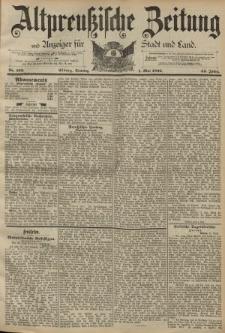 Altpreussische Zeitung, Nr. 102 Sonntag 1 Mai 1892, 44. Jahrgang