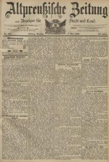 Altpreussische Zeitung, Nr. 103 Dienstag 3 Mai 1892, 44. Jahrgang