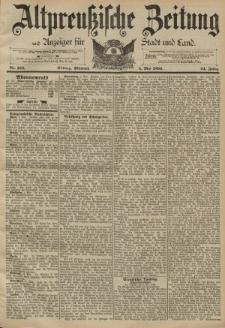 Altpreussische Zeitung, Nr. 104 Mittwoch 4 Mai 1892, 44. Jahrgang