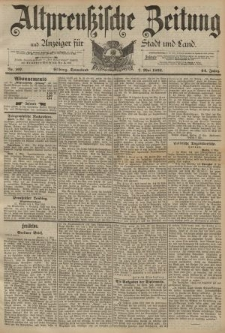 Altpreussische Zeitung, Nr. 107 Sonnabend 7 Mai 1892, 44. Jahrgang