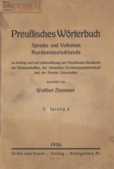 Preußisches Wörterbuch : Sprache und Volkstum Nordostdeutschlands. 2-8