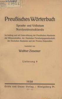 Preußisches Wörterbuch : Sprache und Volkstum Nordostdeutschlands. 9 - 15