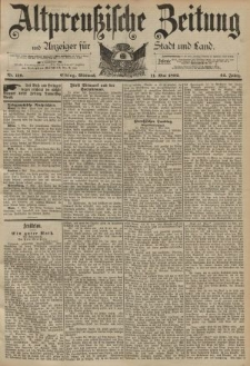 Altpreussische Zeitung, Nr. 110 Mittwoch 11 Mai 1892, 44. Jahrgang