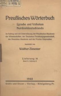 Preußisches Wörterbuch : Sprache und Volkstum Nordostdeutschlands. 16 - 22