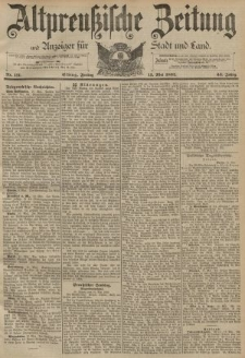 Altpreussische Zeitung, Nr. 111 Freitag Mai 13 1892, 44. Jahrgang