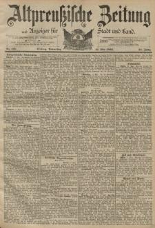Altpreussische Zeitung, Nr. 116 Donnerstag 19 Mai 1892, 44. Jahrgang
