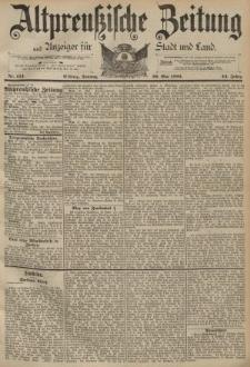 Altpreussische Zeitung, Nr. 124 Sonntag 29 Mai 1892, 44. Jahrgang