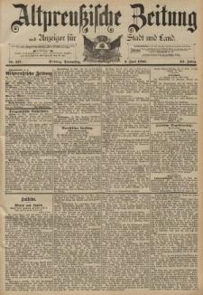 Altpreussische Zeitung, Nr. 127 Donnerstag 2 Juni 1892, 44. Jahrgang