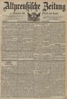 Altpreussische Zeitung, Nr. 135 Sonntag 12 Juni 1892, 44. Jahrgang