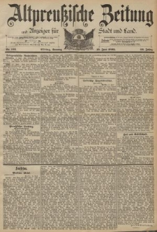 Altpreussische Zeitung, Nr. 141 Sonntag 19 Juni 1892, 44. Jahrgang
