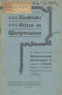 Kirchliche Sitten in Westpreussen