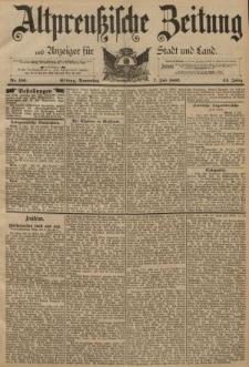 Altpreussische Zeitung, Nr. 156 Donnerstag 7 Juni 1892, 44. Jahrgang