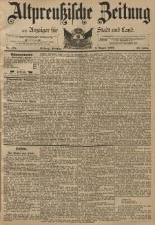 Altpreussische Zeitung, Nr. 178 Dienstag 2 August 1892, 44. Jahrgang