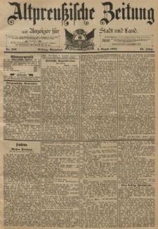 Altpreussische Zeitung, Nr. 182 Sonnabend 6 August 1892, 44. Jahrgang
