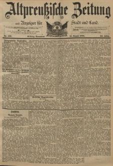 Altpreussische Zeitung, Nr. 188 Sonnabend 13 August 1892, 44. Jahrgang