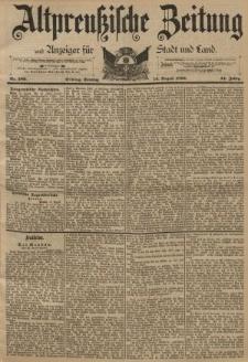 Altpreussische Zeitung, Nr. 189 Sonntag 14 August 1892, 44. Jahrgang