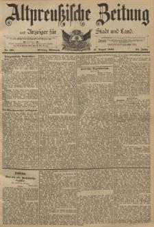 Altpreussische Zeitung, Nr. 191 Mittwoch 17 August 1892, 44. Jahrgang