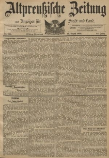 Altpreussische Zeitung, Nr. 194 Sonnabend 20 August 1892, 44. Jahrgang