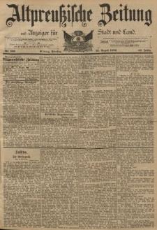 Altpreussische Zeitung, Nr. 196 Dienstag 23 August 1892, 44. Jahrgang