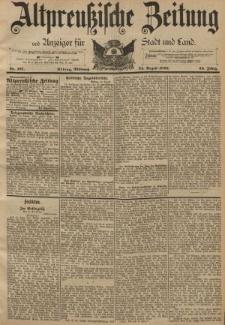 Altpreussische Zeitung, Nr. 197 Mittwoch 24 August 1892, 44. Jahrgang