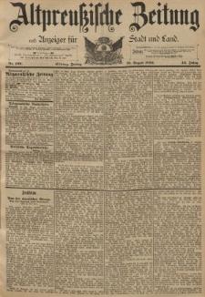 Altpreussische Zeitung, Nr. 199 Freitag 26 August 1892, 44. Jahrgang