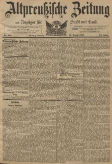 Altpreussische Zeitung, Nr. 201 Sonntag 28 August 1892, 44. Jahrgang