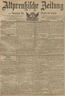 Altpreussische Zeitung, Nr. 207 Sonntag 4 September 1892, 44. Jahrgang