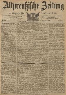 Altpreussische Zeitung, Nr. 214 Dienstag 13 September 1892, 44. Jahrgang