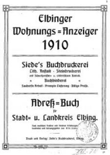 Elbinger Wohnungs-Anzeiger 1910