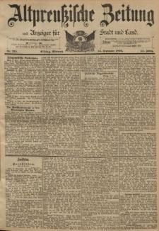 Altpreussische Zeitung, Nr. 215 Mittwoch 14 September 1892, 44. Jahrgang