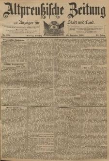 Altpreussische Zeitung, Nr. 220 Dienstag 20 September 1892, 44. Jahrgang
