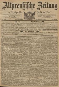 Altpreussische Zeitung, Nr. 225 Sonntag 25 September 1892, 44. Jahrgang