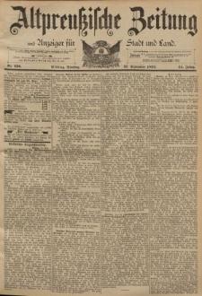Altpreussische Zeitung, Nr. 226 Dienstag 27 September 1892, 44. Jahrgang