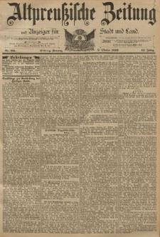 Altpreussische Zeitung, Nr. 231 Sonntag 2 Oktober 1892, 44. Jahrgang