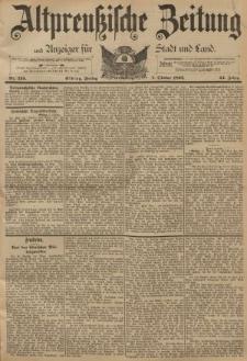 Altpreussische Zeitung, Nr. 235 Freitag 7 Oktober 1892, 44. Jahrgang