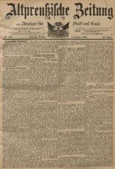 Altpreussische Zeitung, Nr. 238 Dienstag 11 Oktober 1892, 44. Jahrgang