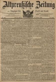 Altpreussische Zeitung, Nr. 241 Freitag 14 Oktober 1892, 44. Jahrgang