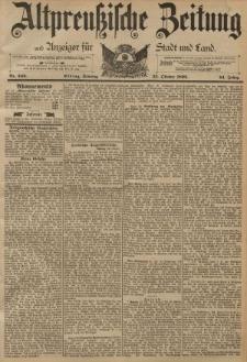 Altpreussische Zeitung, Nr. 249 Sonntag 23 Oktober 1892, 44. Jahrgang
