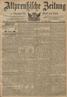 Altpreussische Zeitung, Nr. 254 Sonnabend 29 Oktober 1892, 44. Jahrgang
