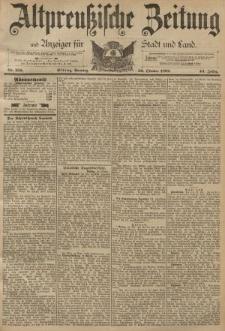 Altpreussische Zeitung, Nr. 255 Sonntag 30 Oktober 1892, 44. Jahrgang