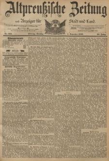 Altpreussische Zeitung, Nr. 256 Dienstag 1 November 1892, 44. Jahrgang