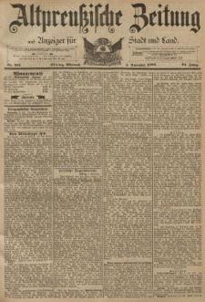 Altpreussische Zeitung, Nr. 257 Mittwoch 2 November 1892, 44. Jahrgang