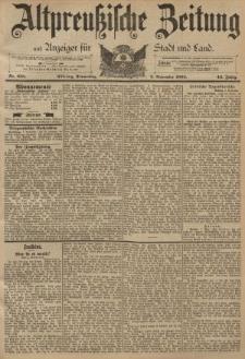 Altpreussische Zeitung, Nr. 258 Donnerstag 3 November 1892, 44. Jahrgang