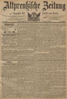 Altpreussische Zeitung, Nr. 259 Freitag 4 November 1892, 44. Jahrgang