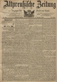 Altpreussische Zeitung, Nr. 261 Sonntag 6 November 1892, 44. Jahrgang