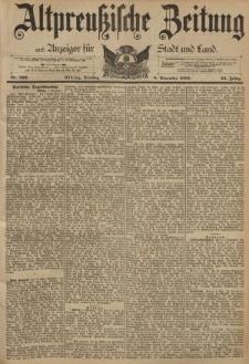 Altpreussische Zeitung, Nr. 262 Dienstag 8 November 1892, 44. Jahrgang