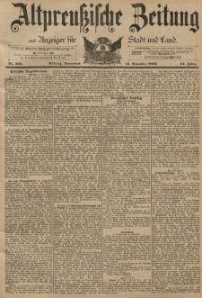 Altpreussische Zeitung, Nr. 266 Sonnabend 12 November 1892, 44. Jahrgang