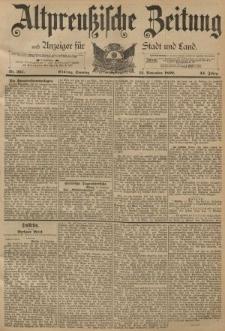 Altpreussische Zeitung, Nr. 267 Sonntag 13 November 1892, 44. Jahrgang